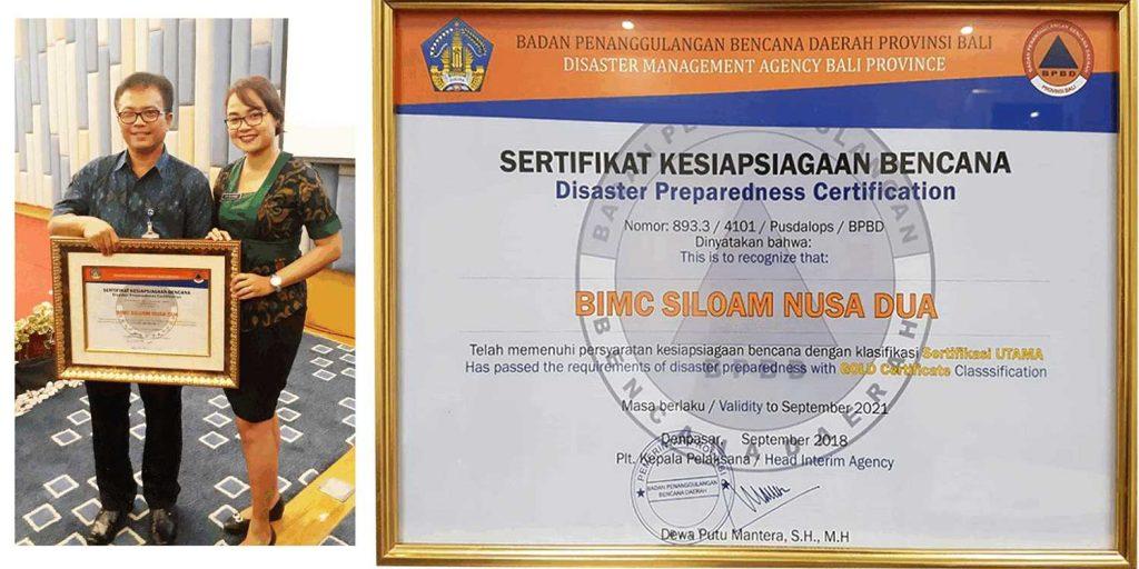 First hospital in Bali Certified for Disaster Preparedness - BIMC Siloam Nusa Dua