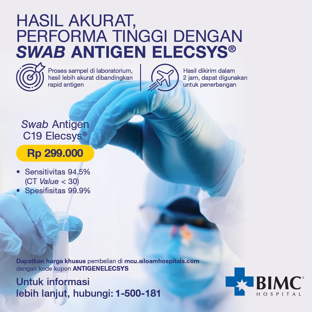 Accurate Results High Performance With Elecsys Antigen Swab Indonesia
