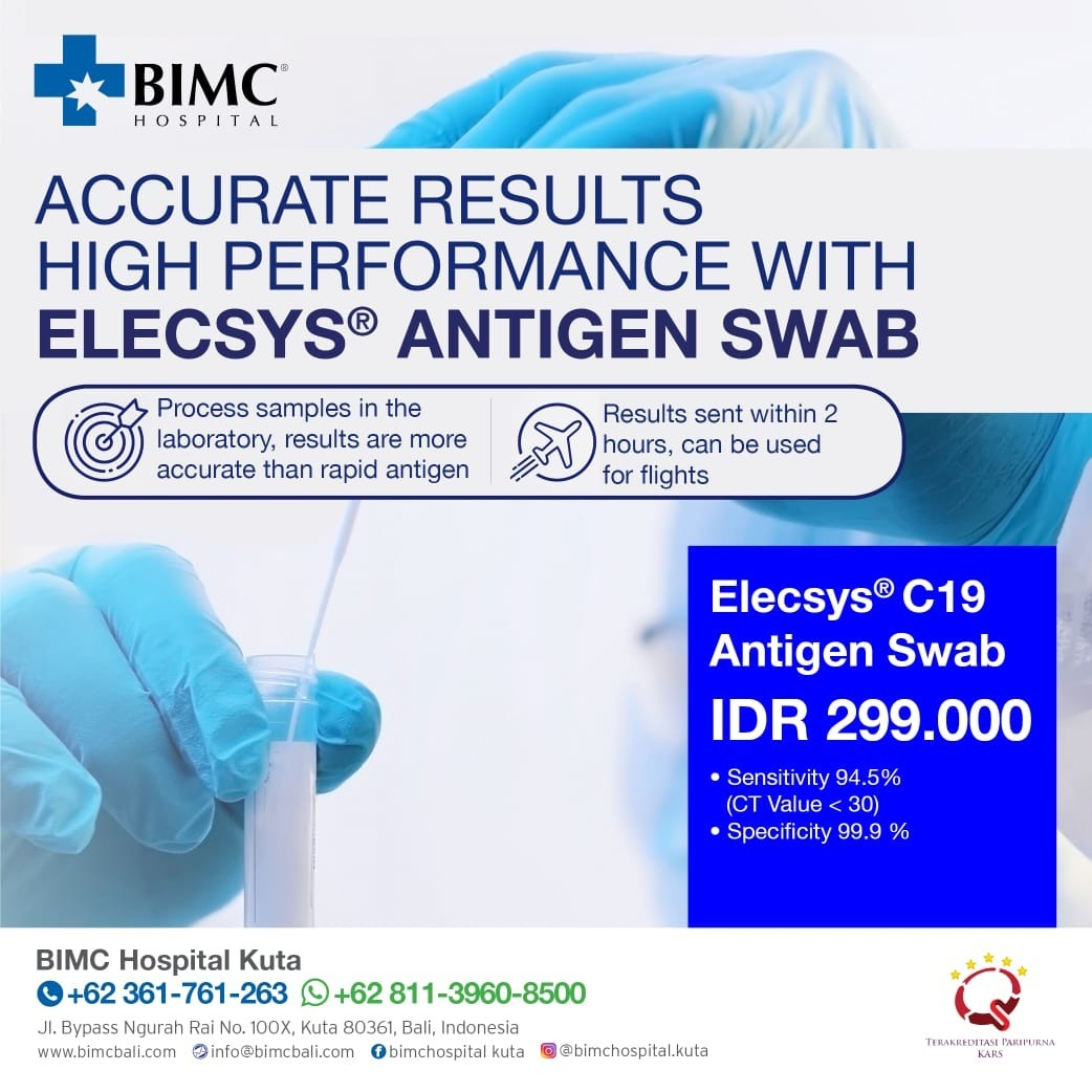 Accurate Results High Performance With Elecsys Antigen Swab